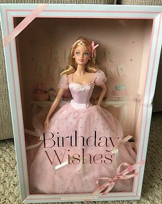 2012 Birthday Wishes Barbie Doll NRFB Pink Gown Dress Model Muse Side Glance Eye