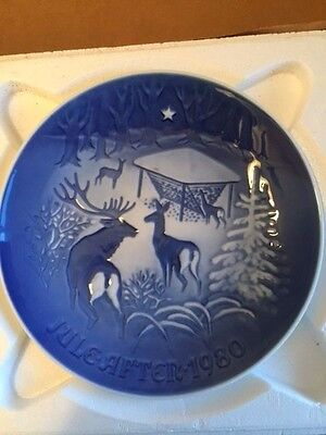 1980 Bing & Grondahl Fulepatte Christmas Plate Hand Painted Porcelain