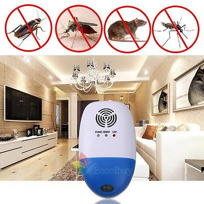 New Electronic Ultrasonic Anti Mosquito Pest Mouse Killer Magnetic Repeller  A