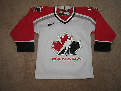 Vintage Team Canada Olympic Hockey Jersey-Youth S / M-Nike