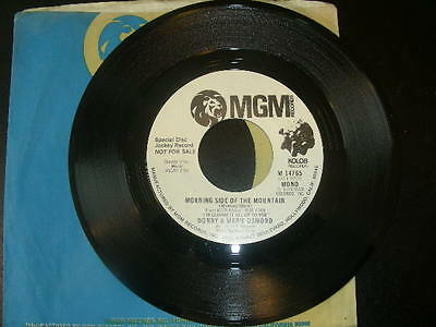 """PROMO Pop 45 Donny & Marie Osmond """"Morning Side Of The Mountain"""" MGM 1974 NM"""