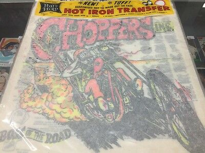 Vintage Choppers Inc Graphic Iron On Transfer by Rat's Hole Rats Daytona Beach