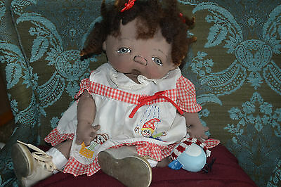 Jan Shackelford OOAK Adorable AA Baby Girl Ready for Valentines Day!