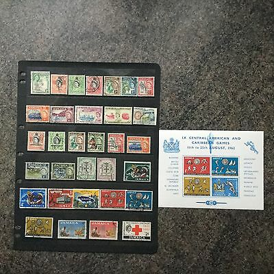 SELECTION OF STAMPS FROM JAMAICA - 1953 To 1963 PLUS MINI-SHEET