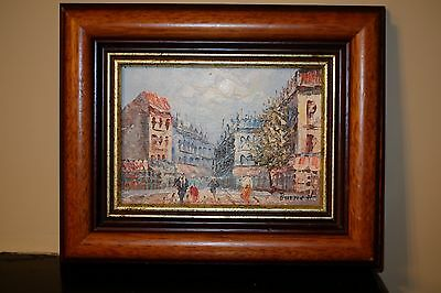 Signed mid-20th century continental oil on board painting
