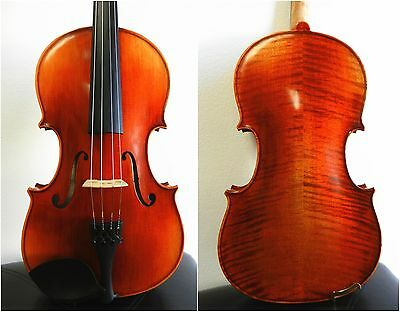"""Used***beautiful Viola 15.5"""" Size , Helicore Strings+Case + Bow+Rosin"""