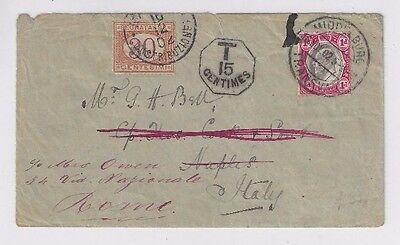 1902 Middleburg Transvaal to Italy redirected with Postage Due