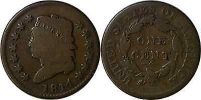 1814 1C Plain 4 Large Cent Classic Head Good