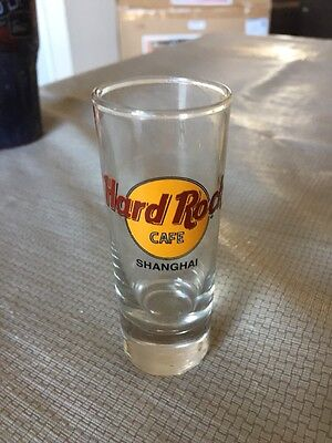 "Hard Rock Cafe SHANGHAI China 4"" Tall Souvenir Shooter Shot Glass"