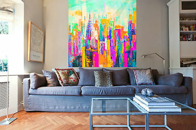 City Dream Pop Art Kunstdruck//Bild/Malerei/Poster/Street Art 100 cm x 100 cm