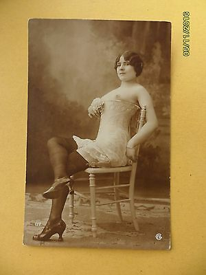 Original French 1910's-1920's George Agelou Postcard Nude Erotic Woman #109
