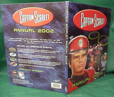 captain scarlet annual 2002 Gerry Anderson Tv series birthday gift