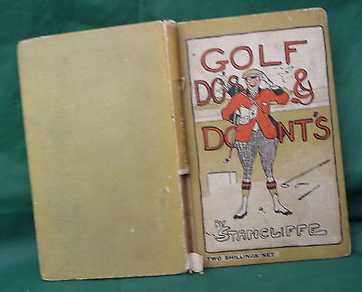 Vintage Golf Book Do's & Don'ts Great Present Golfers Sport Reference