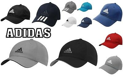 Adidas Mens/ Kids Sports Peak Cap Baseball Hat 3 Stripes Adjustable 12 COLORS