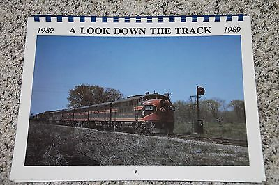 "Chicago Great Western 1989 Calendar ""a Look Down The Track""  Cgw Railroad"