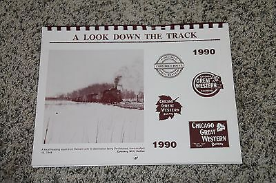 "Chicago Great Western 1990 Calendar ""a Look Down The Track""  Cgw"