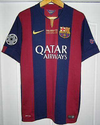 Camiseta Barcelona champions league 2015 final shirt Messi SPECIAL ISSUE jersey