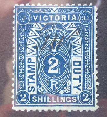 Victoria 1879 Stamp Duty #ar37 Used  2 Shillings