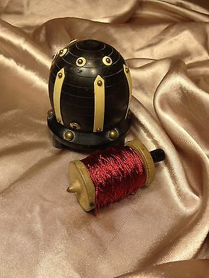 """""""VINTAGE THREAD HOLDER"""" /Spool/Sewing/Stand/Caddy/Wood"""
