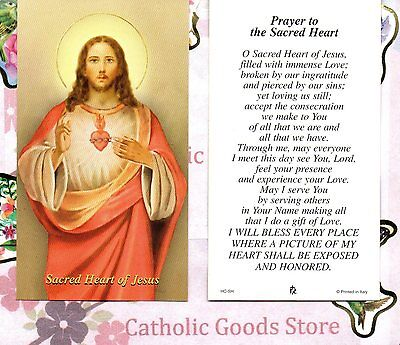 Sacred Heart of Jesus - Prayer to the Sacred Heart -  Paperstock Holy Card