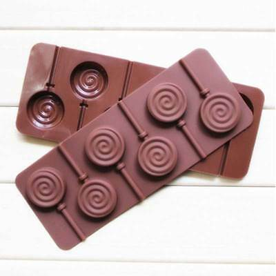 Hard 3D Silicone Candy Lollipop Molds Chocolate Cake Decoration Mould Tool