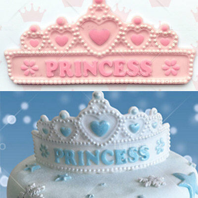 Happy Birthday Crown Silicone Cake Cookies Decorating Baking Christmas Mould