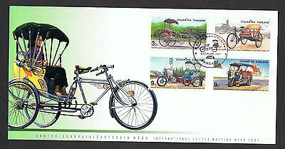 1997 Letter Writing Week Tricycles set on FDC NS523