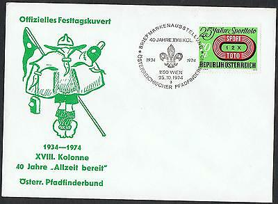 Austria: 1974 40 years 'Be Prepared' cover with pictorial pmk TS319