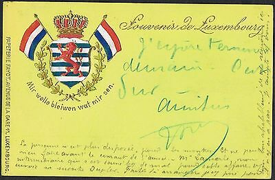 1899 embossed multi-coloured postcard used with 10c red TS364