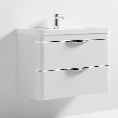 Premier Parade Wall Hung 2-Drawer Vanity Unit with Basin 800mm Wide - 1 Tap Hole