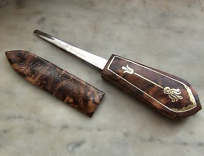 Retro LETTER OPENER with Leather Handle and Sheath, Sphinx Collection.