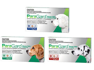 ParaGard Allwormer for Dogs Worming Tablet to Worm Dogs Free Shipping