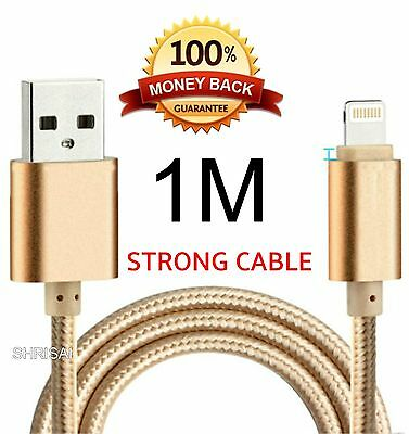 1M STRONG BRAIDED USB DATA SYNC CHARGER CABLE  for iPhone 6 5 5S 5C iPad 6 Plus