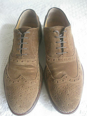 Vero Cuoio Wall +Water- Wingtip Suede Brogue Shoes Size 11.5/Eur 45