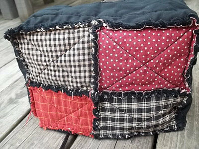Toaster Cover Americana Rustic Star Rag Country Black Fabric Quilted 2 Slice