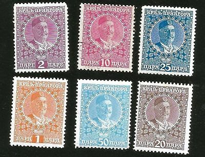 Montenegro King Nicholas I Mint Stamps From 1913
