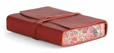 Cavallini & Co. Red Roma Lussa Leather Journal 5x7