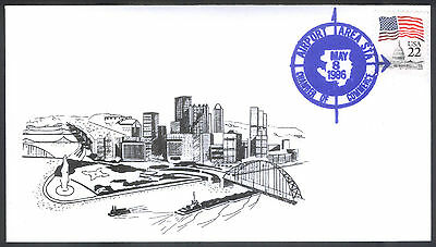 1986 U S First Day Cover Pittsburgh Pennsylvania Golden Triangle