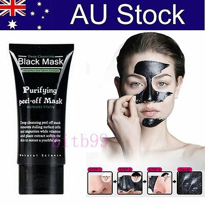 Face Mask Nose Blackhead Acne Pore Deep Remover Cleansing Strip Black Mud F#