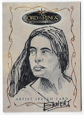 Lord of the Rings Topps Evolution sketch card Scott Erwert Arwen