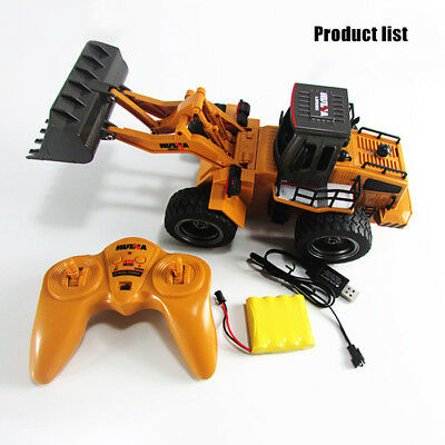 HUINA 1520 1:18 Scale 2.4GHz 6CH RC Alloy Car Truck Construction Vehicle Toys