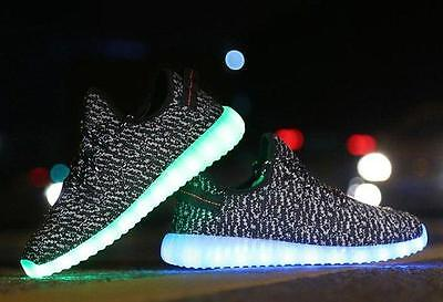 Mens LED Luminous Light up Shoes Cool Casual Sportswear Sneakers - size 9 Mens