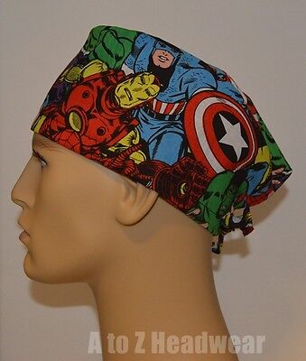 Marvel Comics Packed Characters TRADITIONAL Unisex Surgical Scrub Hat Cap