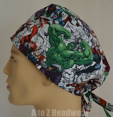 Marvel Avengers Sketch Art Assemble TRADITIONAL Unisex Surgical Scrub Hat Cap