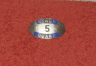 Original Antique Nswgr (Railways) Train Guard Badge No.5~ Issued From 1855
