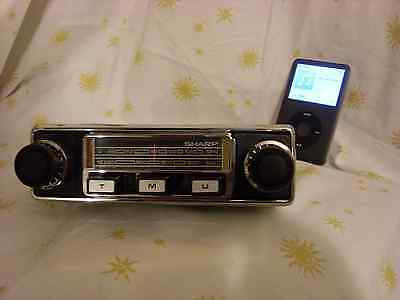 1970,s sharp ar-900 vintage car radio MW/FM with input for mp3 / ipod input