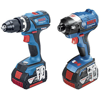 Bosch Pro Brushless Drill Driver Impact Driver 18V 2*4.0Ah 2 Piece Combo Kit
