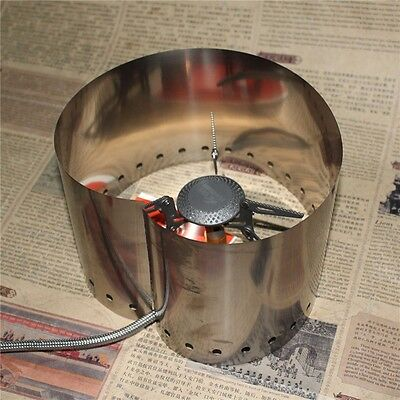 15cm Titanium Stove Wind Screen Windshield Camping Cooking Food Burner Picnic