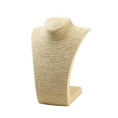Beige Burlap Necklace Stand - Display Bust for Statement Necklaces, Single