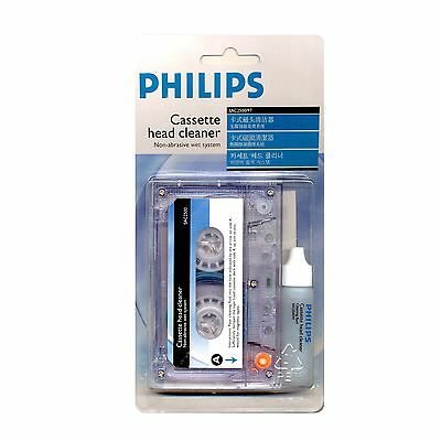 PHILIPS SAC2500/97 Cassette Head Cleaner, Non-abrasive wet system